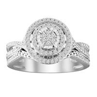 Picture of 0.33CT RD DIAMONDS SET IN 10KT WHITE GOLD LADIES BRIDAL RING