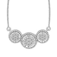 Picture of 0.10CT RD DIAMONDS SET IN 10KT WHITE GOLD LADIES NECKLACE