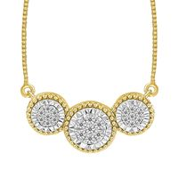 Picture of 0.10CT RD DIAMONDS SET IN 10KT YELLOW GOLD LADIES NECKLACE