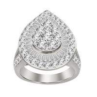 Picture of 3.00CT RD/BGT DIAMONDS SET IN 10KT WHITE GOLD LADIES RING