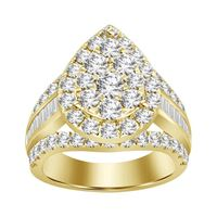 Picture of 3.00CT RD/BGT DIAMONDS SET IN 10KT YELLOW GOLD LADIES RING