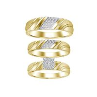Picture of 0.15CT RD DIAMONDS SET IN 10KT YELLOW GOLD LADIES TRIO SET