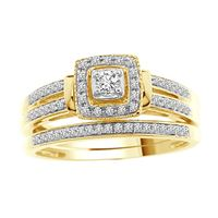 Picture of 0.25 CT ROUND DIAMOND SET IN 10 KT YELLOW GOLD LADIES BRIDAL RING