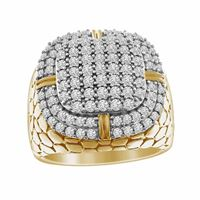 Picture of 1.50CT RD DIAMONDS SET IN 10KT YELLOW GOLD MENS RING