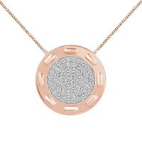 Picture of 0.10CT RD DIAMONDS SET IN 10KT ROSE GOLD LADIES PENDANT