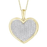 Picture of 0.50CT RD DIAMONS SET IN 10KT YELLOW GOLD LADIES PENDANT