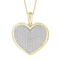 Picture of 0.25CT RD DIAMONDS SET IN 10KT YELLOW GOLD LADIES PENDANT