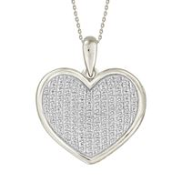 Picture of 0.25CT RD DIAMONDS SET IN 10KT WHITE GOLD LADIES PENDANT