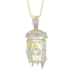 Picture of 1.00CT RD DIAMOND SET IN 10KT YELLOW GOLD MENS PENDANT