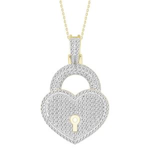 Picture of 0.75CT RD DIAMOND SET IN 10KT YELLOW GOLD MENS PENDANT