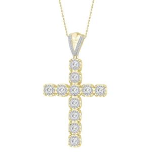 Picture of 1.50CT RD DIAMONDS SET IN 10KT WHITE GOLD MENS PENDANT