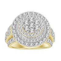 Picture of 3.00CT RD DIAMONDS SET IN 14KT YELLOW GOLD MENS RING