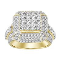 Picture of 3.75CT RD DIAMONDS SET IN 14KT YELLOW GOLD MENS RING