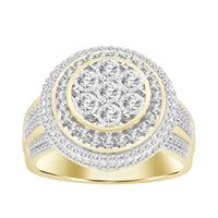 Picture of 0.75CT RD DIAMONDS SET IN 10KT YELLOW GOLD MENS RING