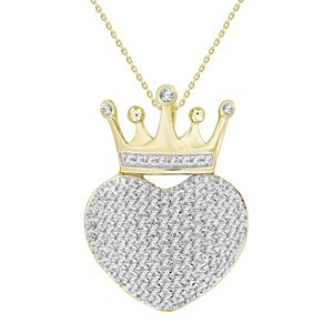 Picture of 0.33CT RD DIAMONDS SET IN 10KT YELLOW GOLD LADIES PENDANT
