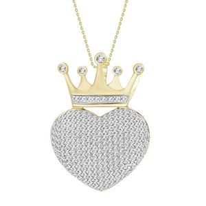 Picture of 0.60CT RD DIAMONDS SET IN 10KT YELLOW GOLD LADIES PENDANT