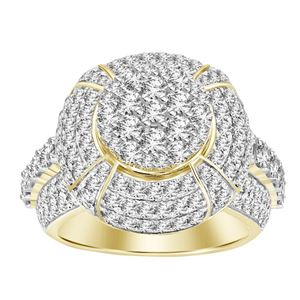 Picture of 3.75CT RD DIAMONDS SET IN 10KT YELLOW GOLD MENS RING