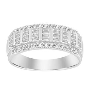 Picture of 0.50CT RD/BGT DIAMONDS SET IN 10KT WHITE GOLD LADIES BAND
