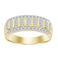 Picture of 0.50CT RD/BGT DIAMONDS SET IN 10KT YELLOW GOLD LADIES BAND