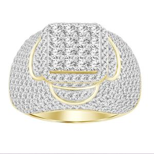 Picture of 4.00CT RD DIAMONDS SET IN 14KT YELLOW GOLD MENS RING