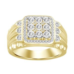 Picture of 0.33CT RD DIAMONDS SET IN 10KT YELLOW GOLD MENS RING