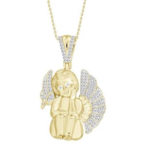 Picture of 0.33CT RD DIAMONDS SET IN 10KT YELLOW GOLD MENS CHARM
