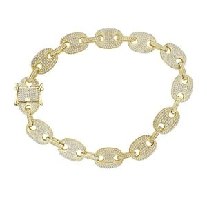 Picture of 3.00CT RD DIAMONDS SET IN 10KT YELLOW GOLD MENS BRACELET