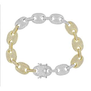 Picture of 4.00CT RD DIAMONDS SET IN 10KT TT WHITE & YELLOW GOLD MENS BRACELET