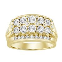 Picture of 1.00CT RD DIAMONDS SET IN 10KT YELLOW GOLD MENS RING