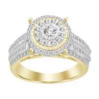 Picture of 0.35CT RD/BGT DIAMONDS SET IN 10KT YELLOW GOLD LADIES RING