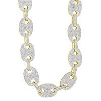 Picture of 7.50CT RD DIAMONDS SET IN 10KT YELLOW GOLD MENS NECKLACE