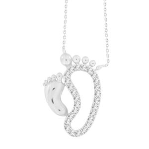 Picture of 0.10CT RD DIAMONDS SET IN 10KT WHITE GOLD LADIES PENDANT WITH CHAIN