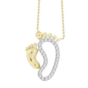 Picture of 0.10CT RD DIAMONDS SET IN 10KT YELLOW GOLD LADIES PENDANT WITH CHAIN