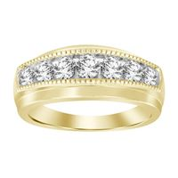 Picture of MEN'S RING 1 CT ROUND DIAMOND 10K YELLOW GOLD