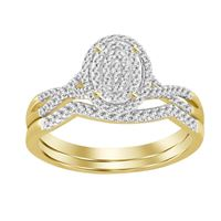 Picture of LADIES BRIDAL RING SET 1/4 CT ROUND DIAMOND 10K YELLOW GOLD