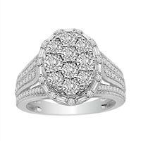 Picture of LADIES RING 3/4 CT ROUND DIAMOND 10K WHITE GOLD