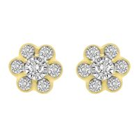 Picture of LADIES EARRINGS 1/4 CT ROUND DIAMOND 10K YELLOW GOLD