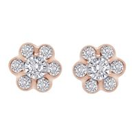 Picture of LADIES EARRINGS 1/4 CT ROUND DIAMOND 10K ROSE GOLD