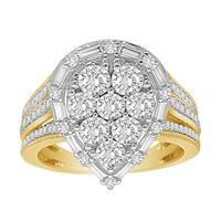 Picture of LADIES RING 3/4 CT ROUND DIAMOND 10K YELLOW GOLD