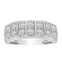 Picture of MEN'S RING 1/2 CT ROUND DIAMOND 10K YELLOW GOLD