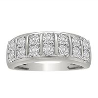 Picture of MEN'S RING 1/2 CT ROUND DIAMOND 10K WHITE GOLD