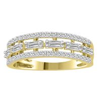 Picture of LADIES RING1/2 CT ROUND/BAGUETTE DIAMOND 10K YELLOW GOLD