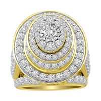 Picture of LADIES RING 5 CT ROUND DIAMOND 10K YELLOW GOLD