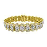 Picture of LADIES BRACELET 3 CT ROUND DIAMOND 10K YELLOW GOLD
