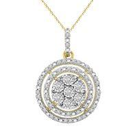 Picture of LADIES PENDANT 1/6 CT ROUND DIAMOND 10K YELLOW GOLD